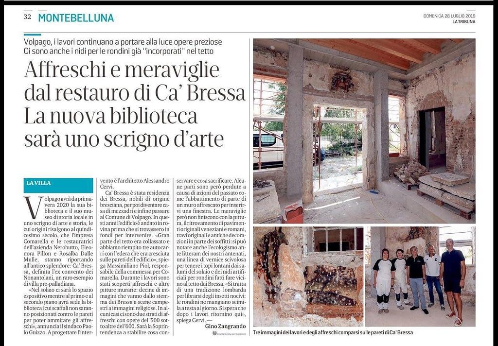 Affreschi e Meraviglie dal restauro di Cà Bressa